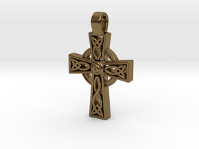Celtic Cross Pendant in Natural Bronze