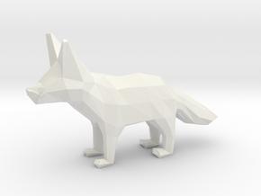 Fennec Fox in White Natural Versatile Plastic