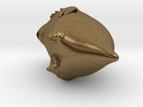 New Zealand Kakapo Charm in Raw Bronze