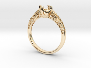 Classic Diamond ring SEMI MOUNT  in 14K Yellow Gold: 6.25 / 52.125