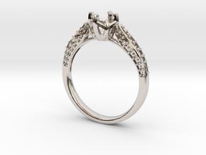 Classic Diamond ring SEMI MOUNT  in Platinum: 6.25 / 52.125