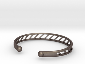 Bracelet L in Polished Bronzed Silver Steel