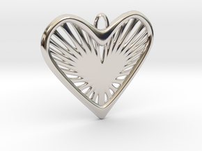 Heart Strings in Rhodium Plated Brass