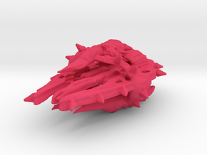 Colour Swarm Battleship in Pink Strong & Flexible Polished