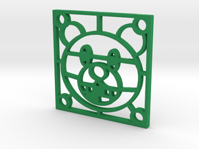 "Fan Grille 30x30mm ""Wiiny"" in Green Processed Versatile Plastic"