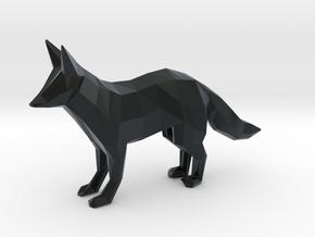 Red Fox in Black Hi-Def Acrylate