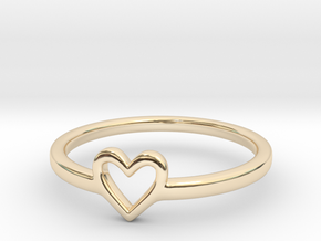 Heart Ring - Ella edition in 14K Yellow Gold: 5.75 / 50.875