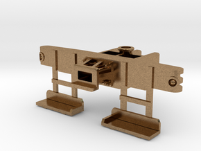 HO Scale Foot Board Pilot Beam in Natural Brass
