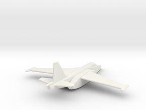 Su-25 Frogfoot 1/200 scale in White Strong & Flexible