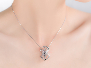 HEAD TO HEAD Perfect Union, Pendant in Rhodium Plated Brass