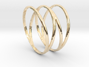 Four Ring in 14k Gold Plated Brass: 5.5 / 50.25