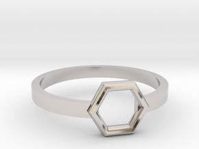 Octagonal Ring in Rhodium Plated Brass: 8 / 56.75