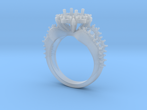 JNNF -  Engagement Ring 3D Printed Wax. in Smooth Fine Detail Plastic
