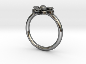 Delphine Ring-Size 6.5 in Fine Detail Polished Silver