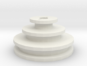 Unimat DB/SL replacement motor pulley in White Natural Versatile Plastic