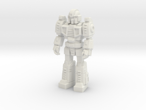 Diaclone Trooper, at attention 35mm Mini in White Strong & Flexible