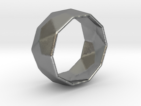 Octagonal Ring in Natural Silver: 8 / 56.75