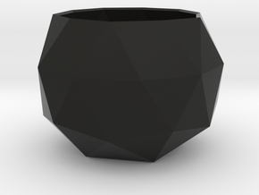 Tiny Flower Pot in Black Strong & Flexible
