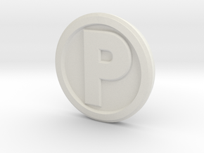 Printle Base (Round Med) 2.5 cm in White Natural Versatile Plastic