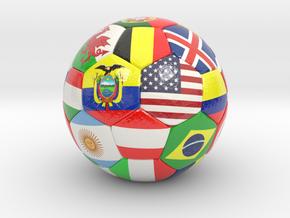 Soccer Ball 2017 in Glossy Full Color Sandstone