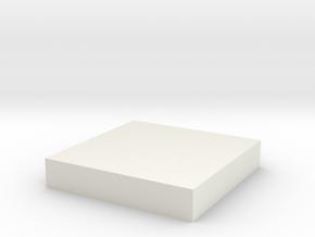 Printle Base (Square) 2 cm in White Natural Versatile Plastic