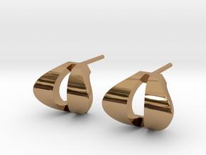Cobra Studs in Polished Brass