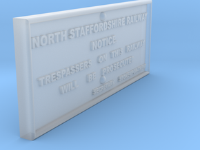 EP725 NSR Trespass Sign in Smooth Fine Detail Plastic