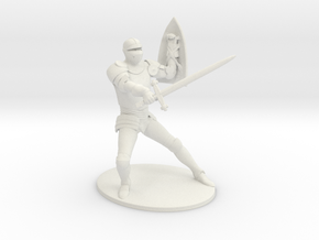 Paladin Miniature in White Natural Versatile Plastic: 1:60.96