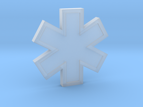 EMS Star of Life in Smooth Fine Detail Plastic