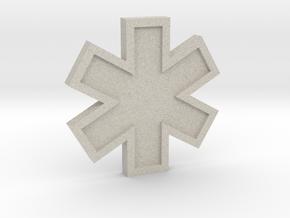 EMS Star of Life in Natural Sandstone