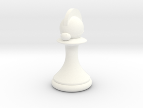 Pawns with Hats - Knight in White Strong & Flexible Polished