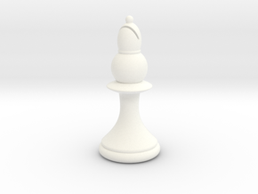 Pawns with Hats - Bishop in White Strong & Flexible Polished