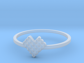 Crystallized Heart Ring (4-12) in Smooth Fine Detail Plastic: 3 / 44