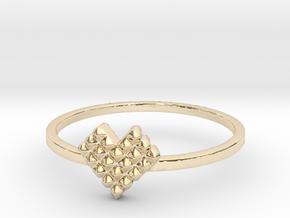 Crystallized Heart Ring (4-12) in 14K Yellow Gold: 3 / 44
