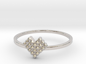 Crystallized Heart Ring (4-12) in Rhodium Plated Brass: 7 / 54