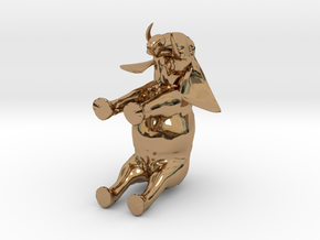 3D Africa Elephant in Polished Brass