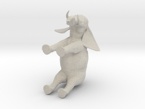 3D Africa Elephant in Natural Sandstone