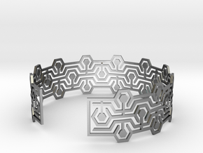 Bracelet Meandres in Polished Silver