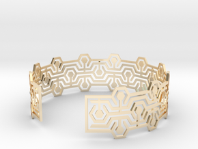 Bracelet fin Meandres in 14k Gold Plated Brass