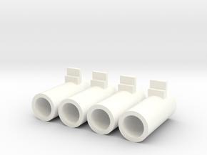 Airsoft MP7 Nozzle 4x in White Processed Versatile Plastic