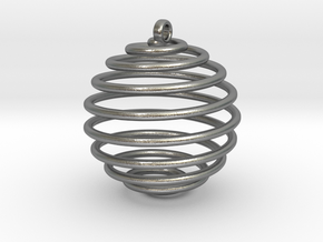 Spiral Sphere in Natural Silver