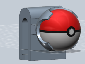 Pokeball 3DS cart holder- BETA in White Natural Versatile Plastic