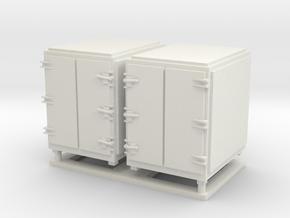 1:72 scale Ammo Box - Large in White Natural Versatile Plastic