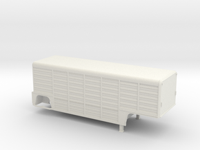 1/64-scale Mickey 26' 14-Bay Beverage Trailer in White Natural Versatile Plastic