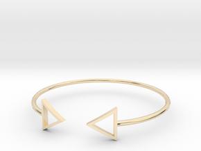Arrow Around Bracelet S-L in 14k Gold Plated Brass: Small