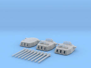 "1/700 16""/45 MKI HMS Nelson Turrets 1940 in Smoothest Fine Detail Plastic"
