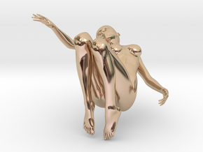 Elegant 3D Girl in 14k Rose Gold