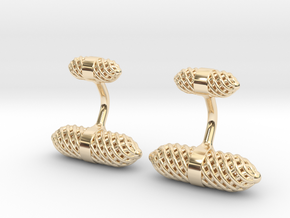 Mens Cufflink in 14K Yellow Gold