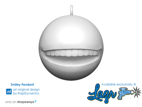 Smiley Pendant in White Natural Versatile Plastic