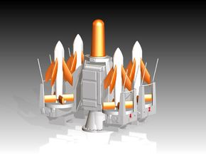 Seacat Launcher Kit 1/87 in Smooth Fine Detail Plastic